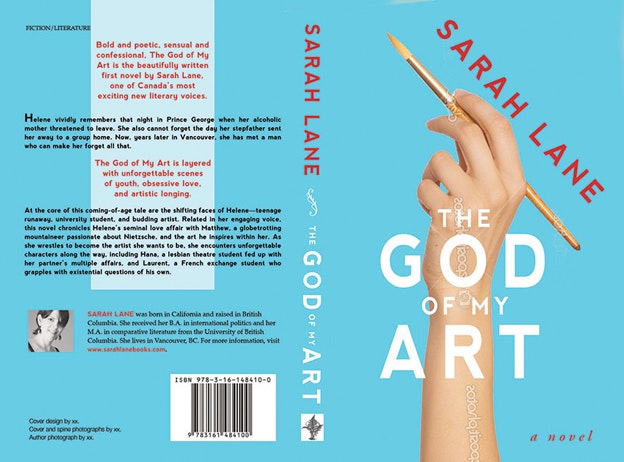 "Buchcover-Design ""The God of my Art"""