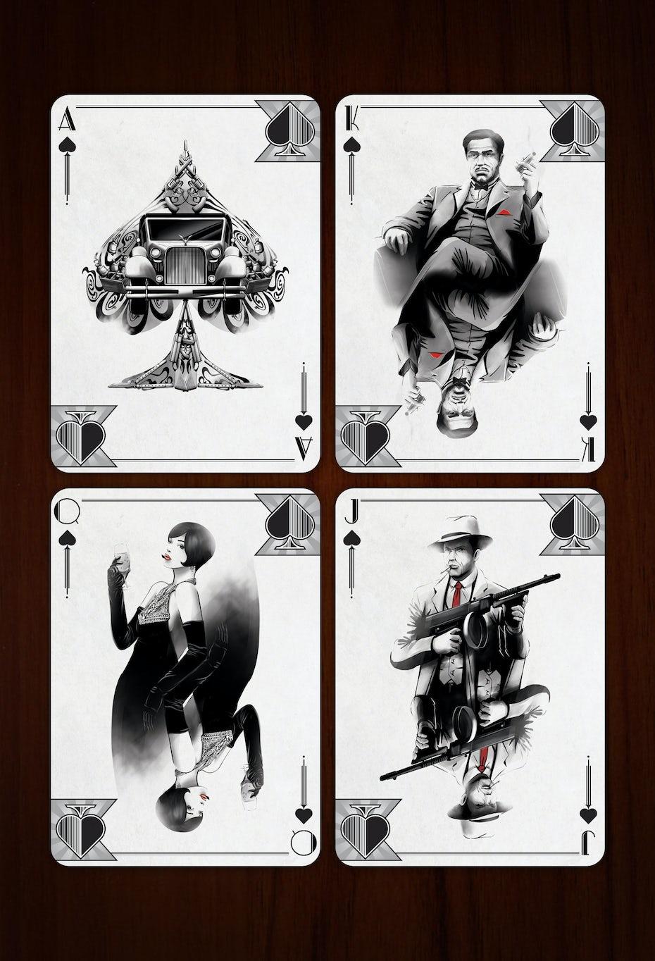 3 spielkarten gangster
