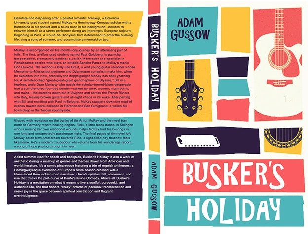 "Buchcover-Design ""Busker's Holiday"""