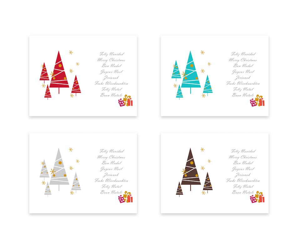 42 weihnachtskartendesign