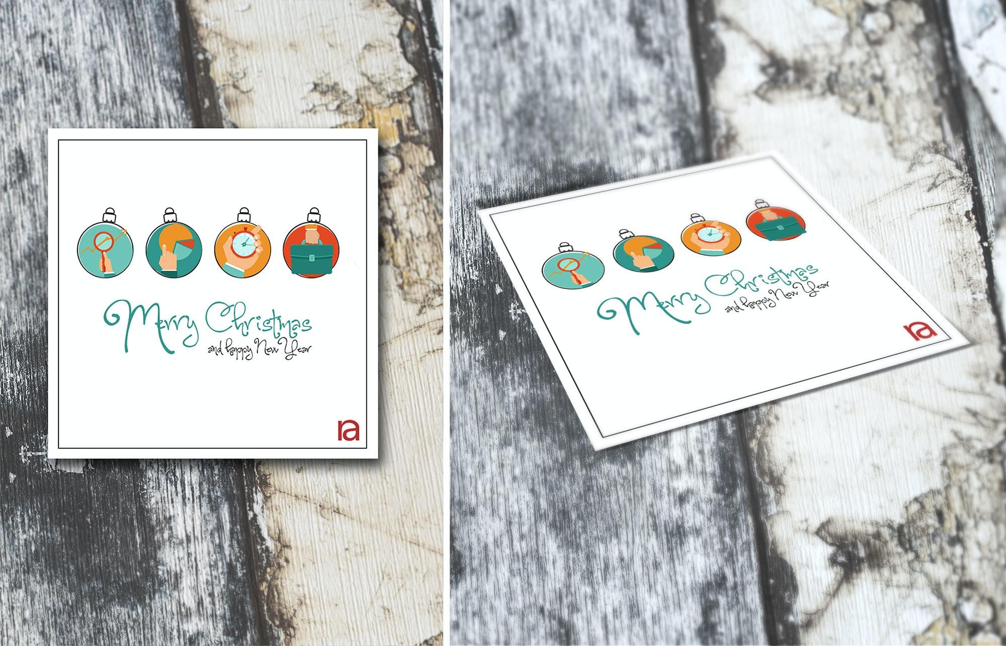 49 weihnachtskarte kugeln design