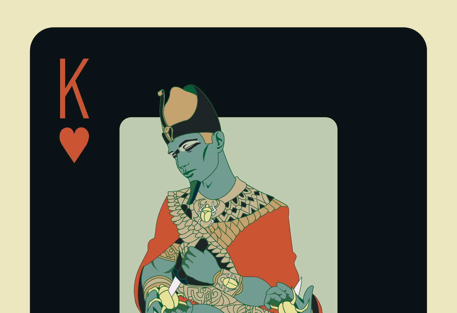 8 spielkarten-design schwarz