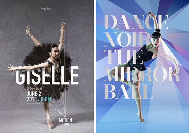 Low-Poly Art: Dance Posters