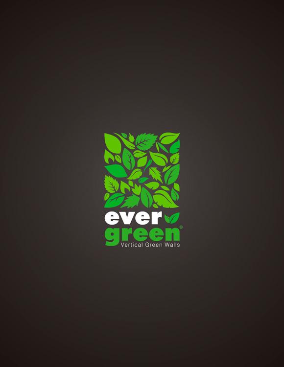Logo environ,emental réalisé pour Ever Green