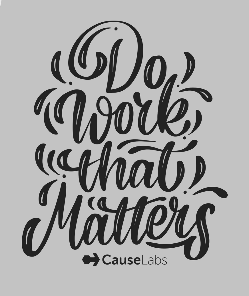 "calligraphy font: ""do work that matters"""