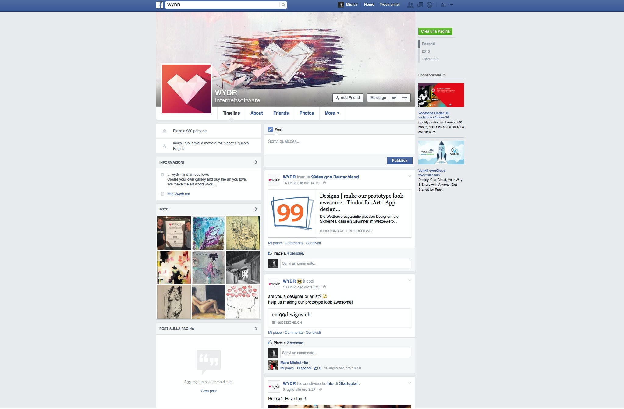 wydr facebook design