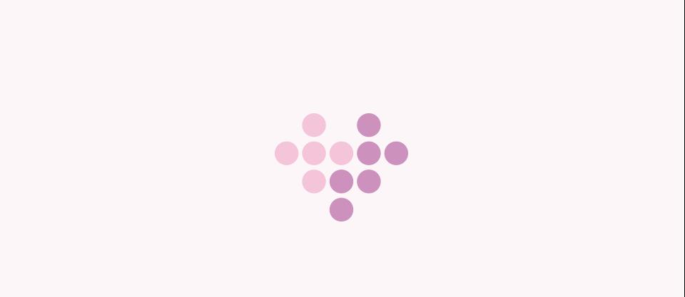16 herz violett punkte