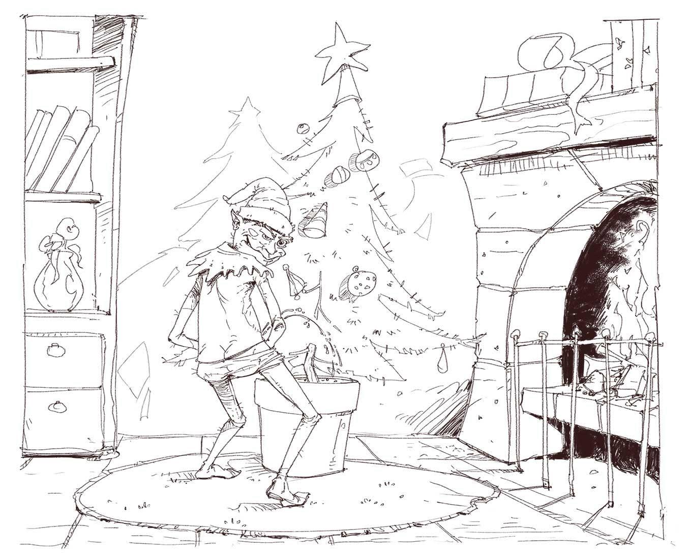 2 weihnachten zeichnung