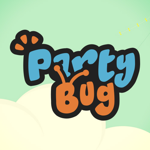 25 party bug logo design
