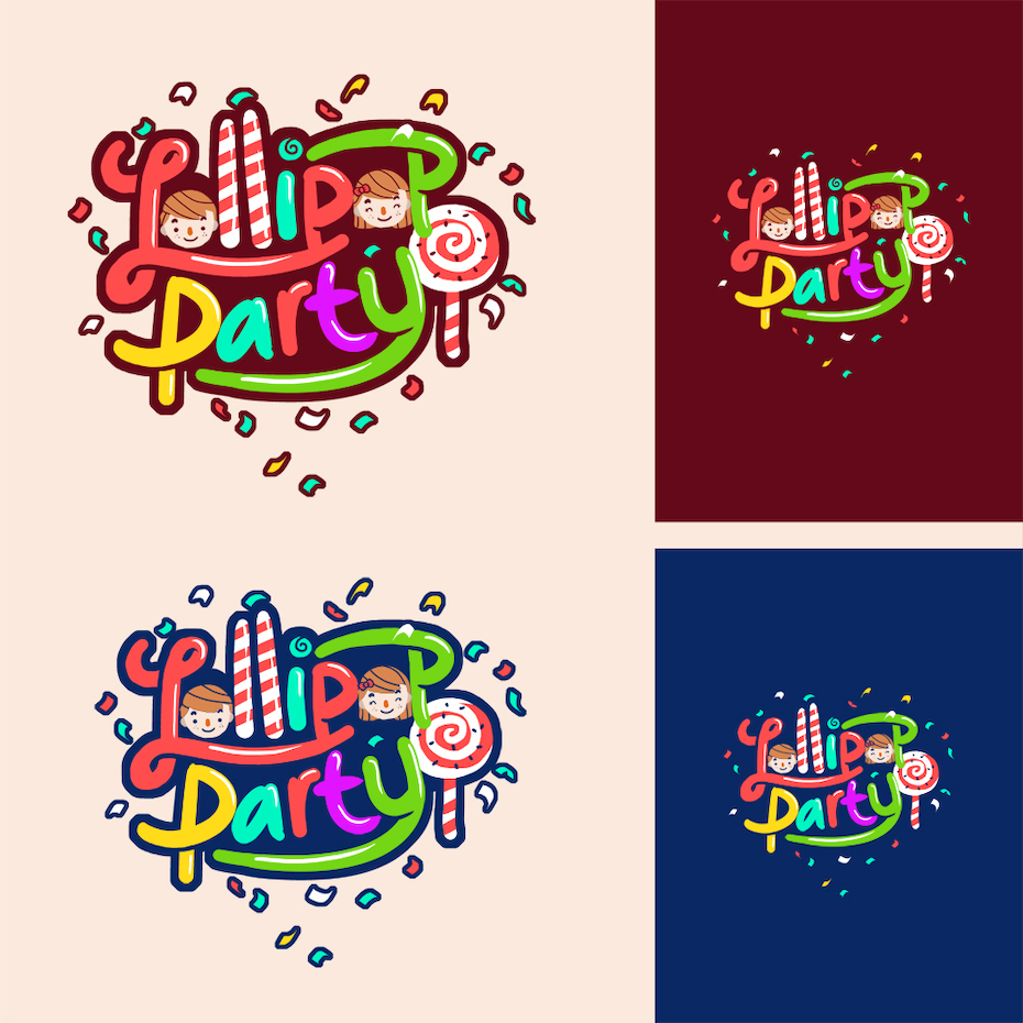 26 lollipop party logo design