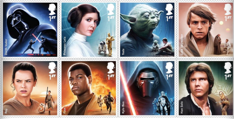 Collection de timbres Star Wars