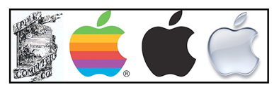 Exemple de la refonte du logo Apple