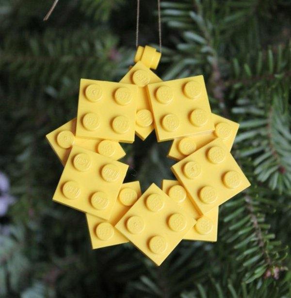 Weihnachtssterne-basteln-vorlagen-kinder-gelb-lego