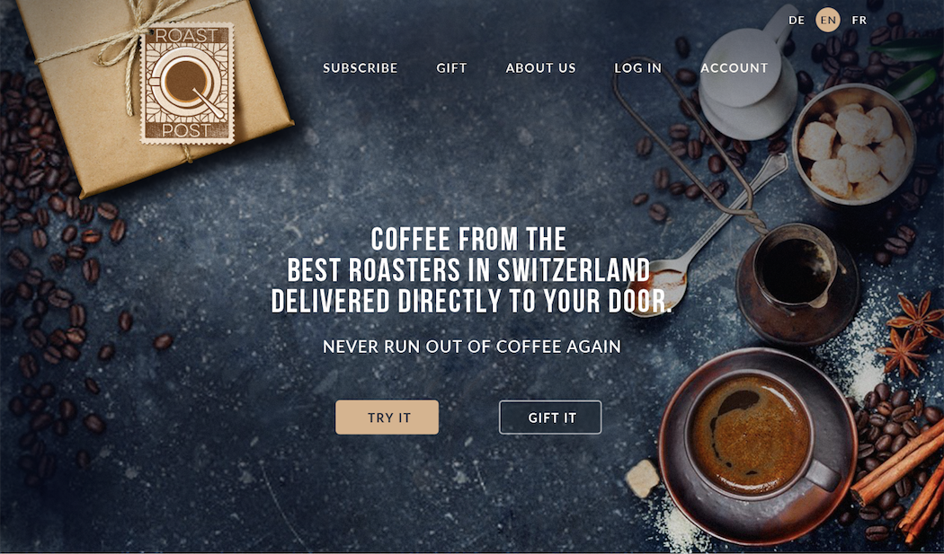 coffee webdesign