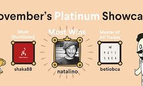 Announcing the winners of November's Platinum Showcase