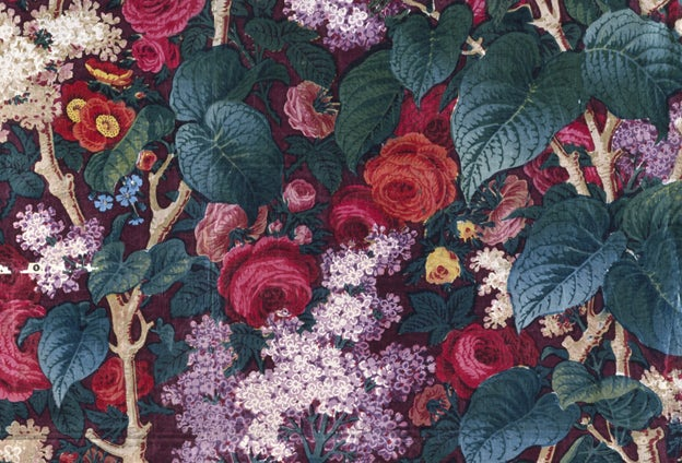 Victorian furnishing fabric