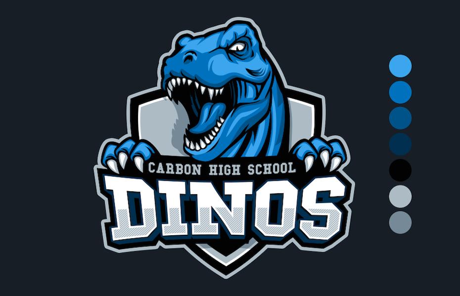 1 dino logo