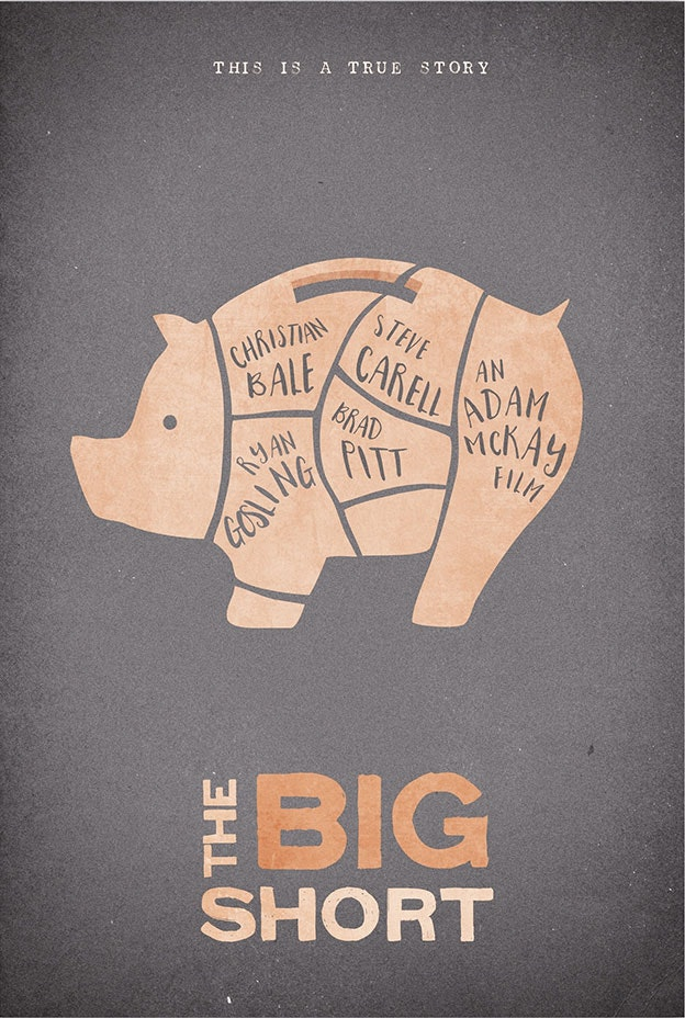 The Big Short minimal movie poster