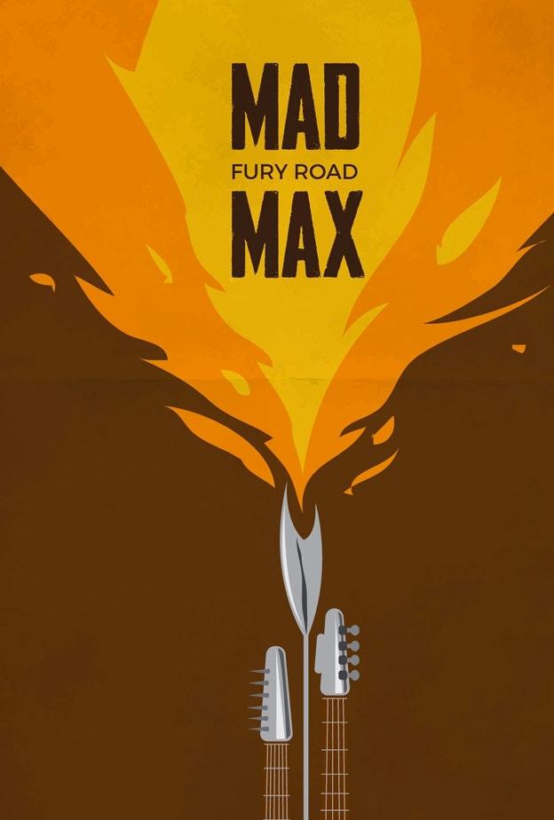 Mad Max minimal movie poster
