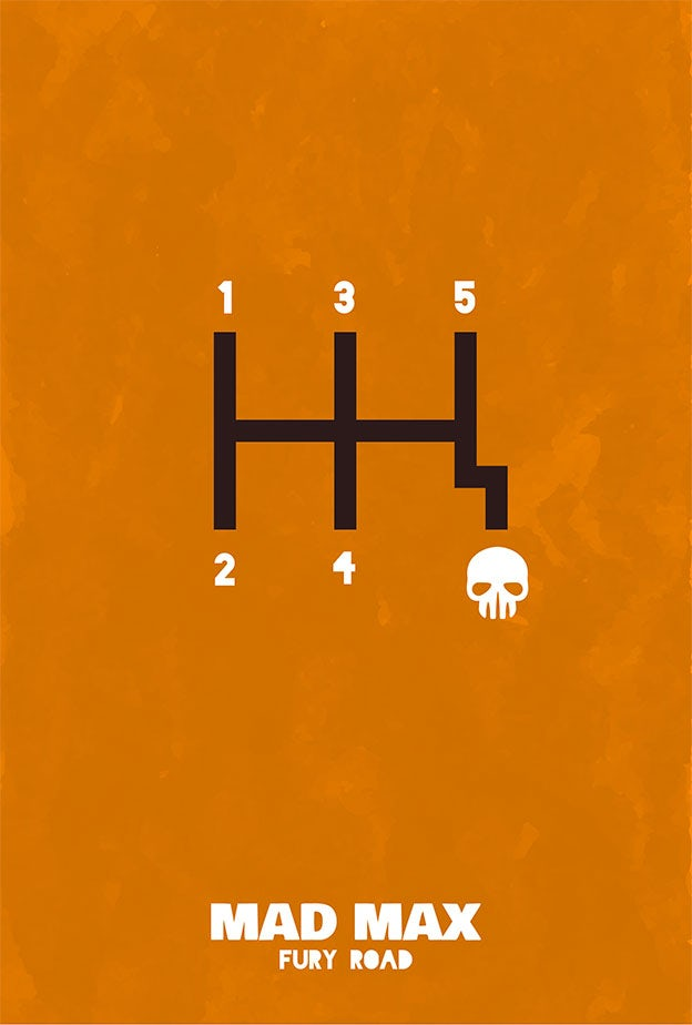 Mad Max minimal movie poster