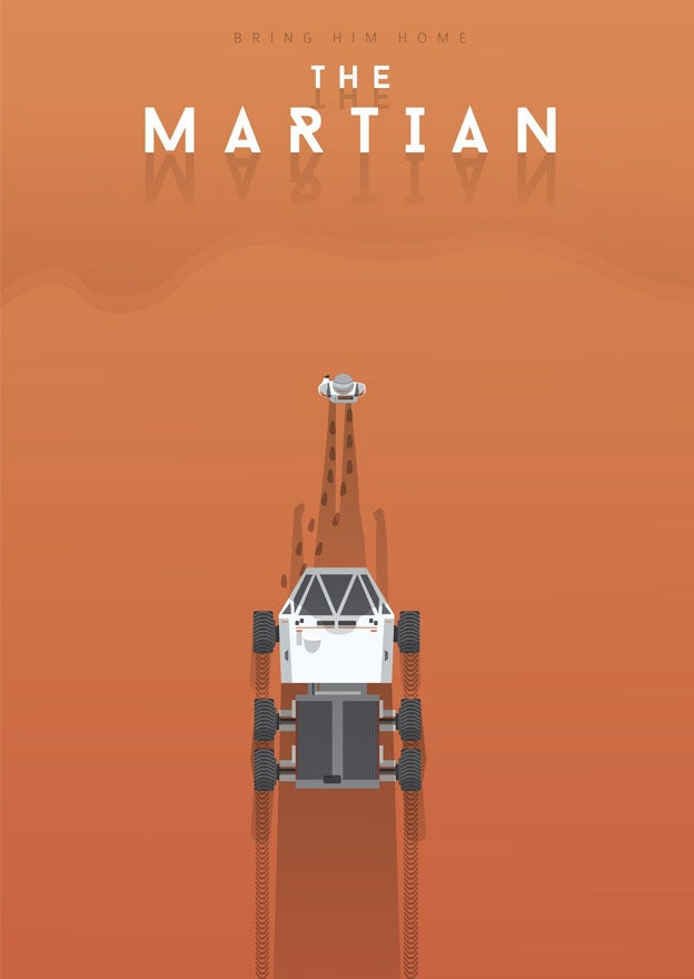 The Martian minimal movie poster