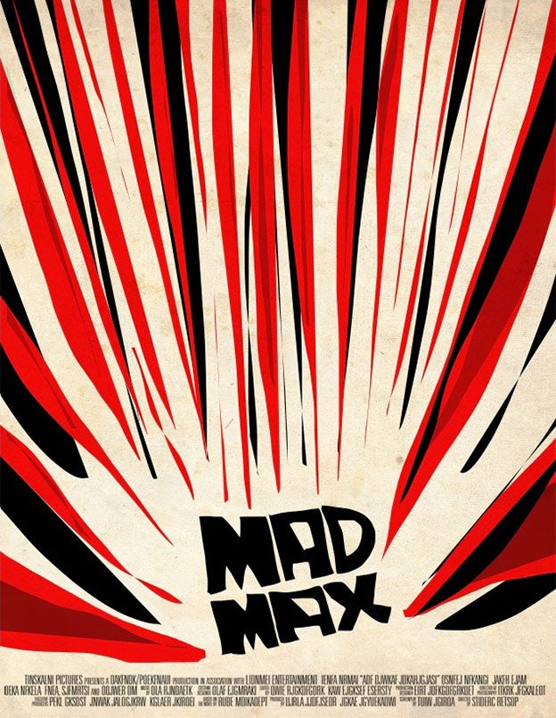 Mad Max movie poster reimagined