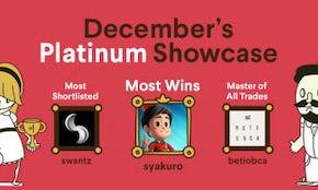Who won the last Platinum Showcase?