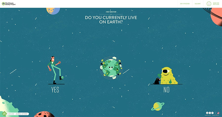 2016 web design trends: Animated stories (World's Easiest Decision)