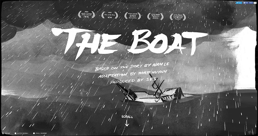 2016 web design trends: 3D WebGL (The Boat)