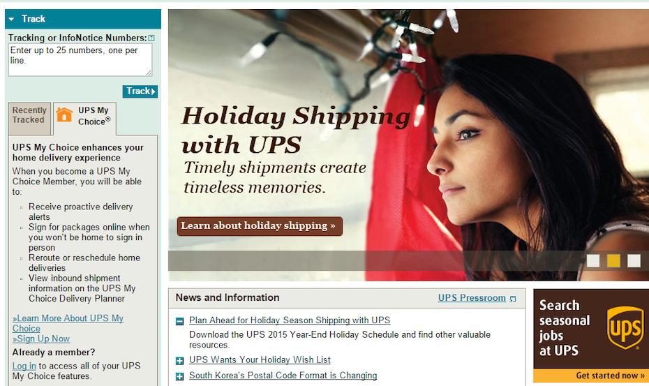 UPS website