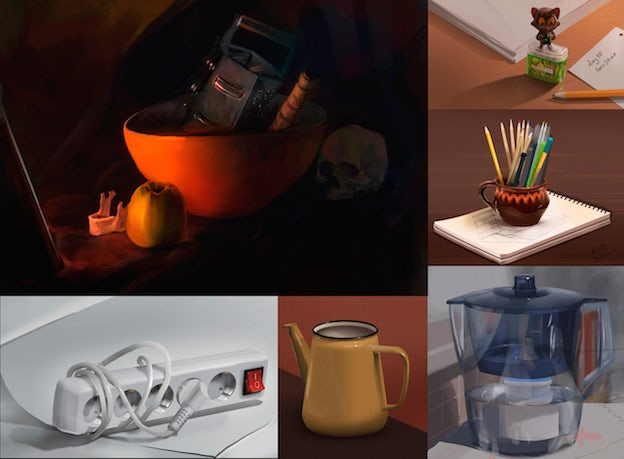 still life illustrations