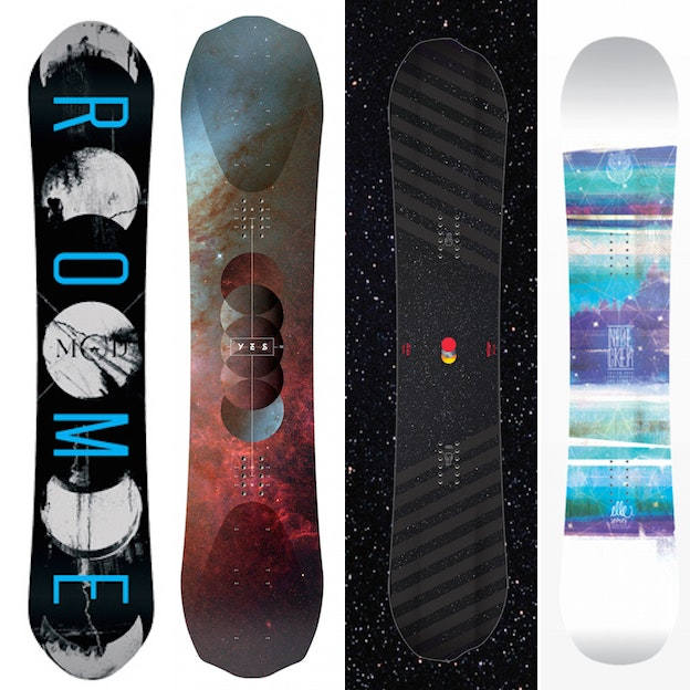 Snowboard design trend: Space