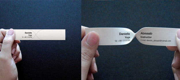 twistable business card
