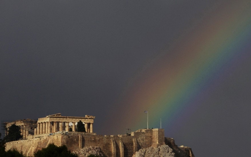 Rainbow over the Acropolis