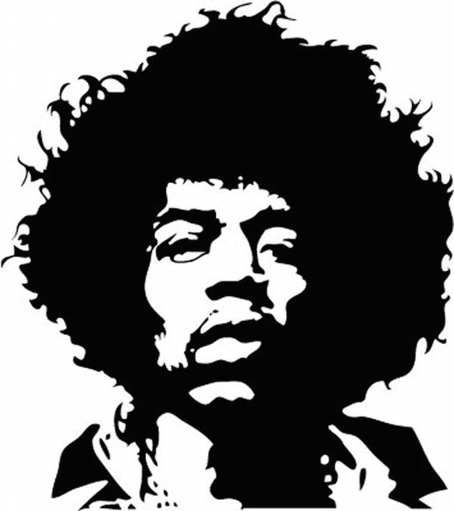 Jimi Hendrix face logo