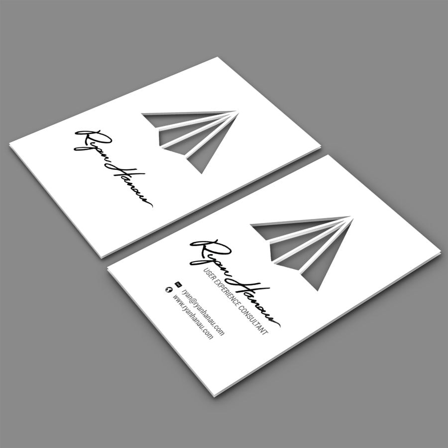 business card design with cutouts