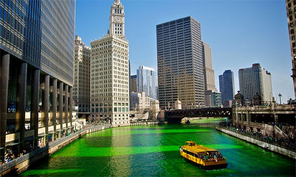 St. Patrick's Day symbol: The color green
