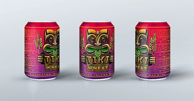 Tiki Wheat beer can design