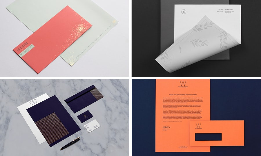 Letterhead and envelopes: colorful