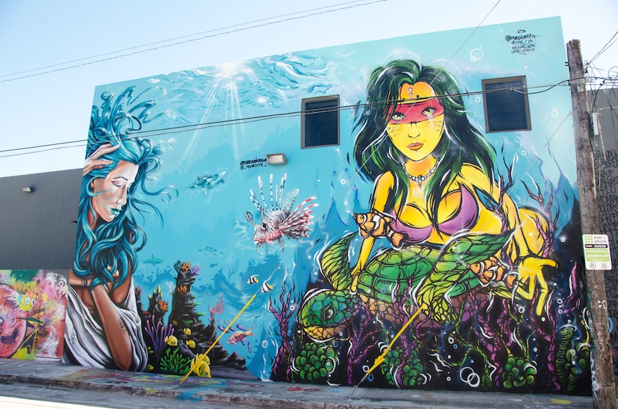 Undersea Wynwood wall by FPLO