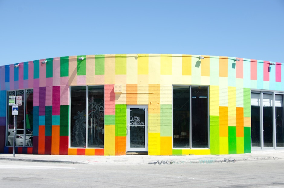 Color block Wynwood wall by Haas & Hahn