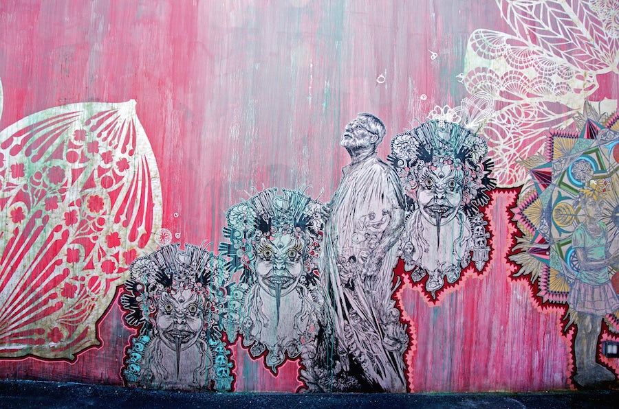 Pink Wynwood wall by Swoon
