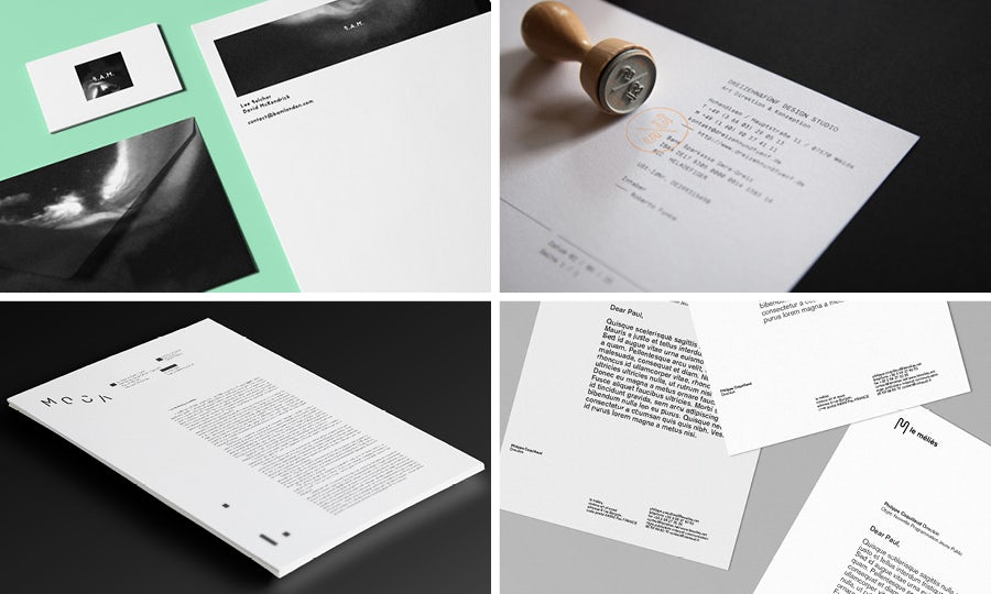 Letterhead and envelopes: Creative Margins