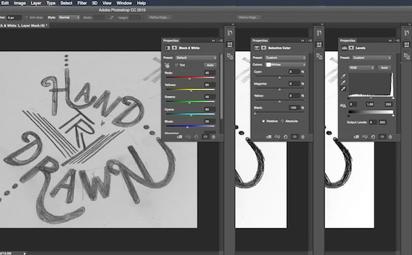 Digital hand-lettering in Photoshop
