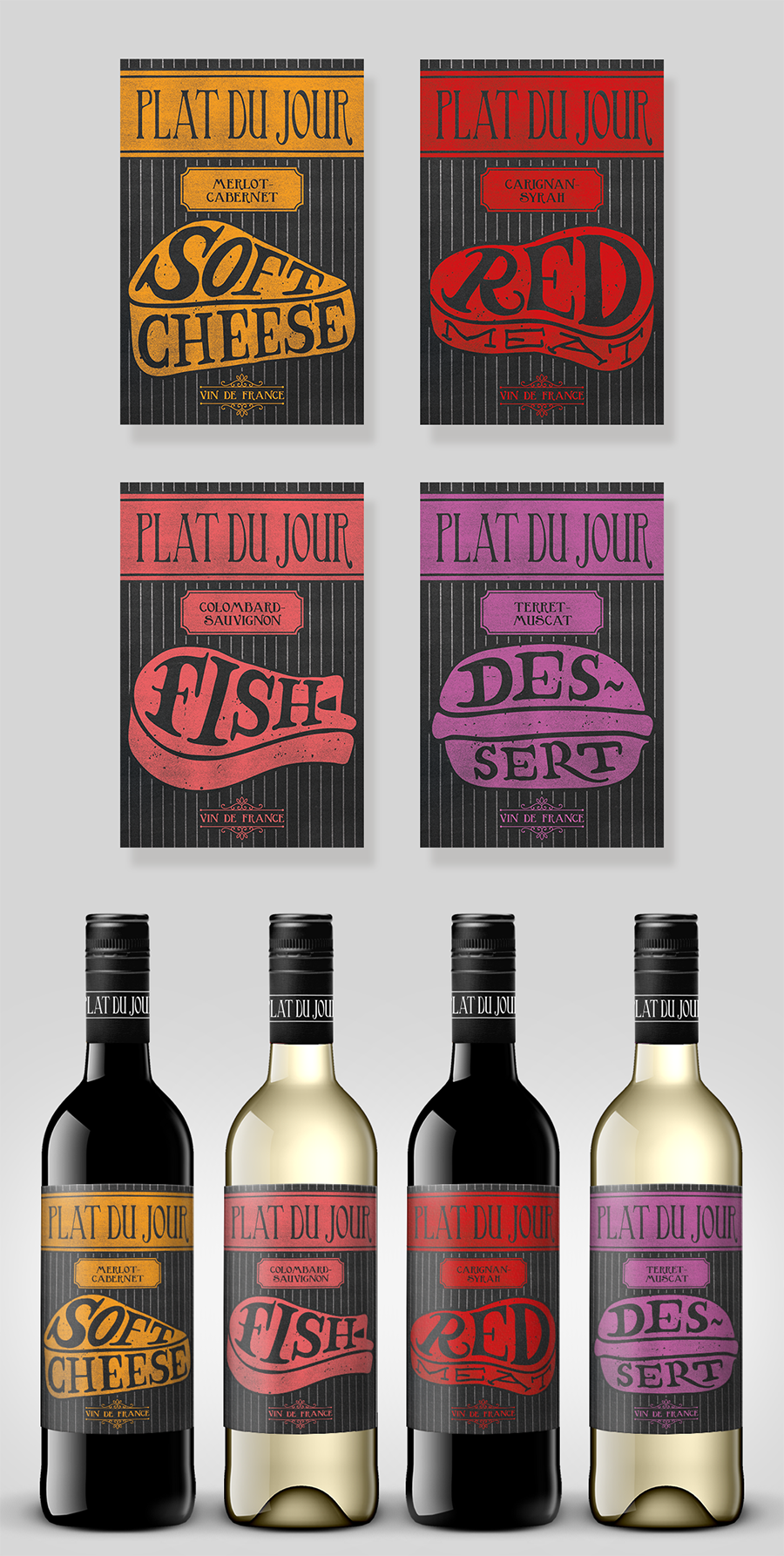 Plat du Jour wine label