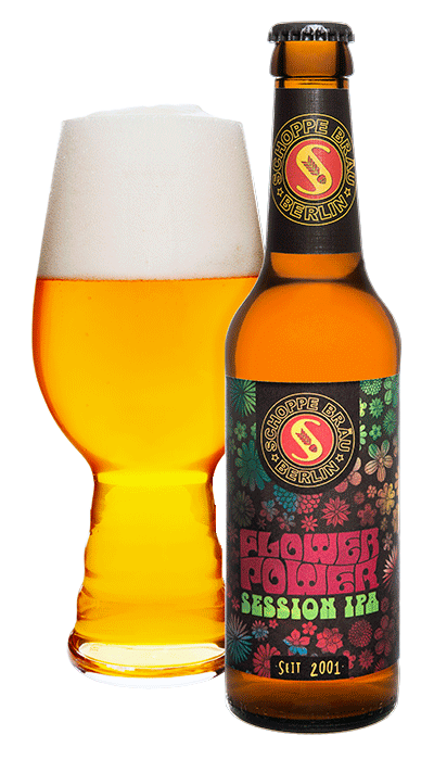 Schoppe Bräu Bieretikett