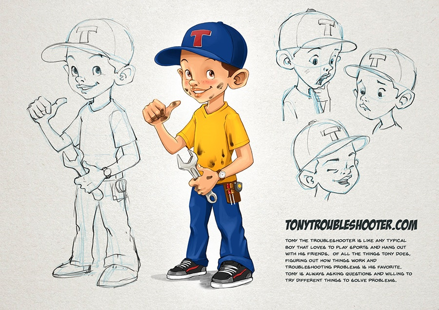 Tony the Troubleshooter mascot