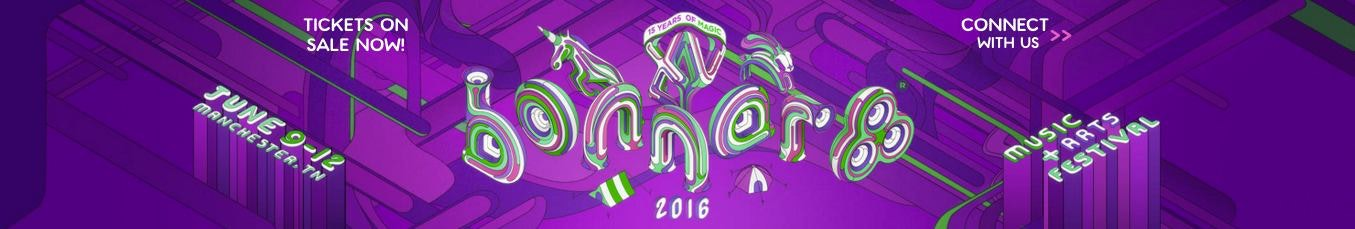 bonnaroo logo and website header