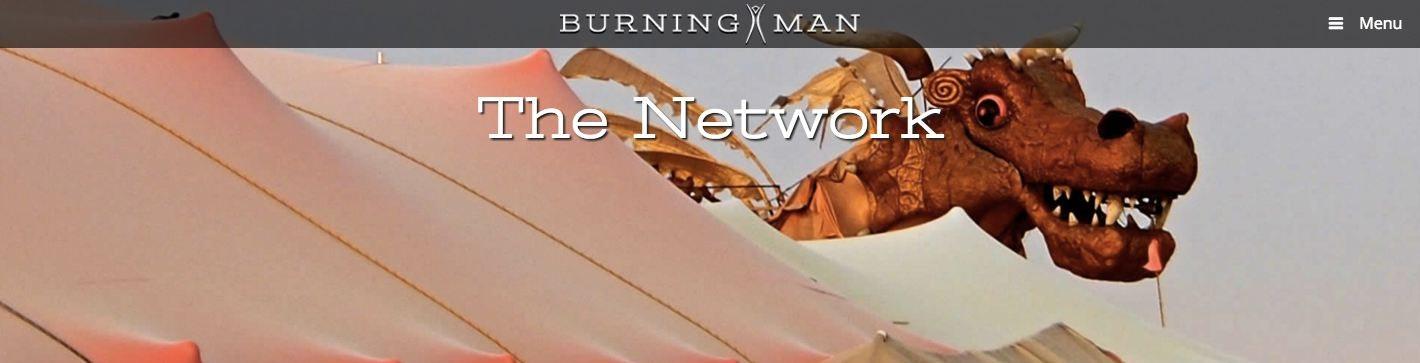 burning man logo and website header