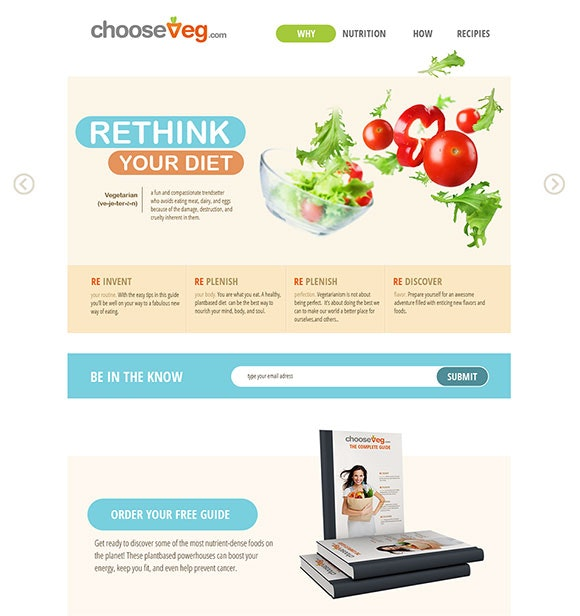 web design for chooseveg.com
